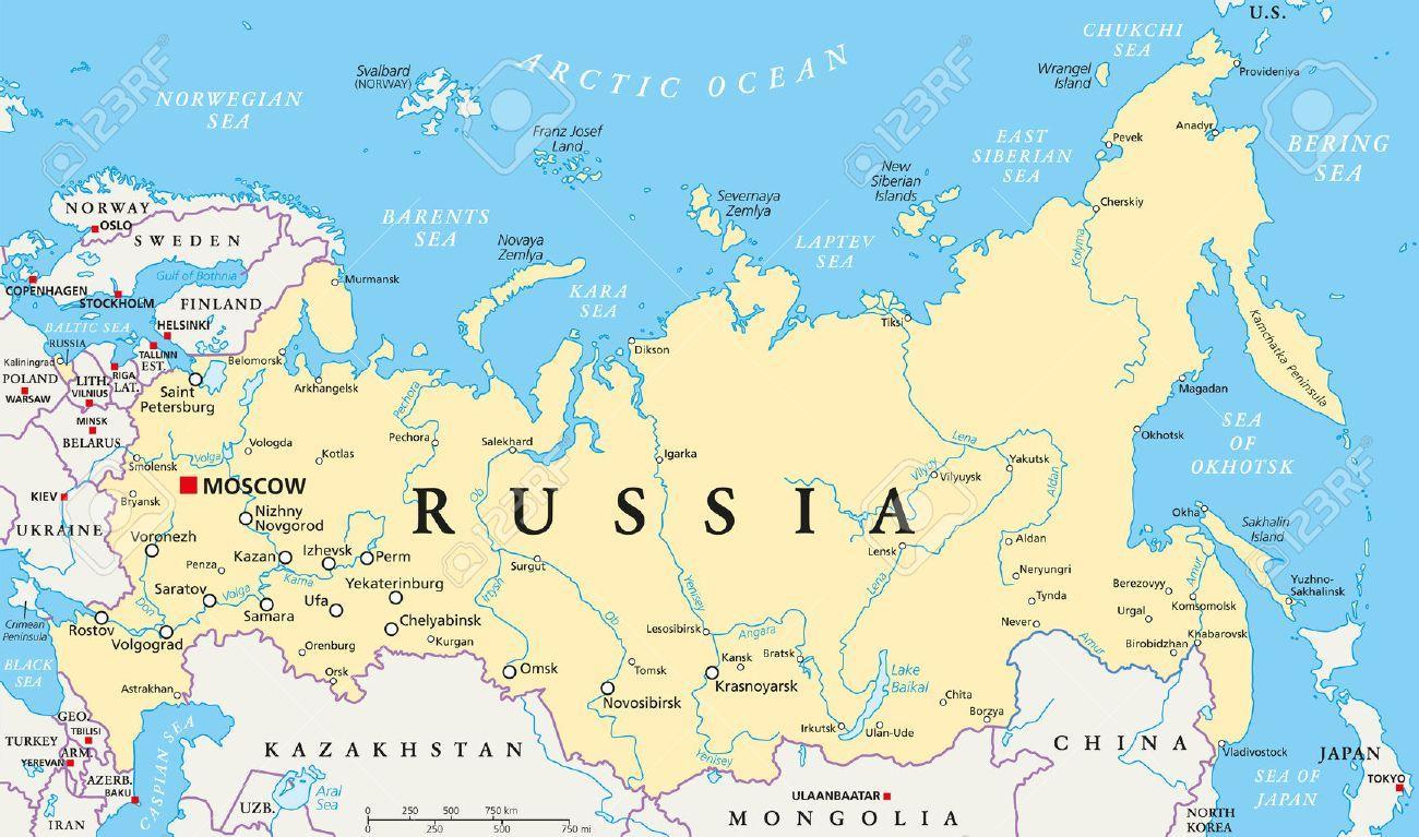 Capitala Rusiei Harta Rusia De Capital Harta Europa De Est