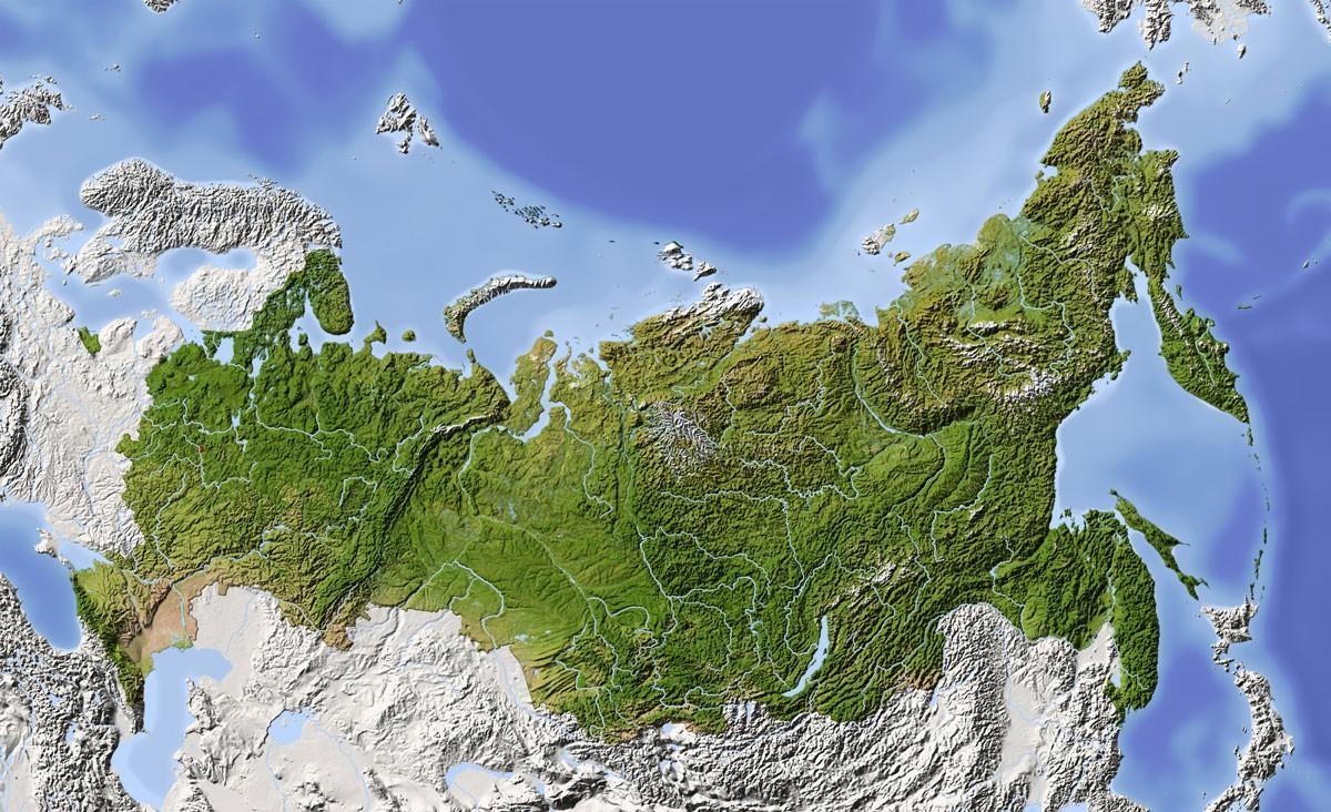 Rusia Harta Prin Satelit Harta Prin Satelit Rusia Europa De Est